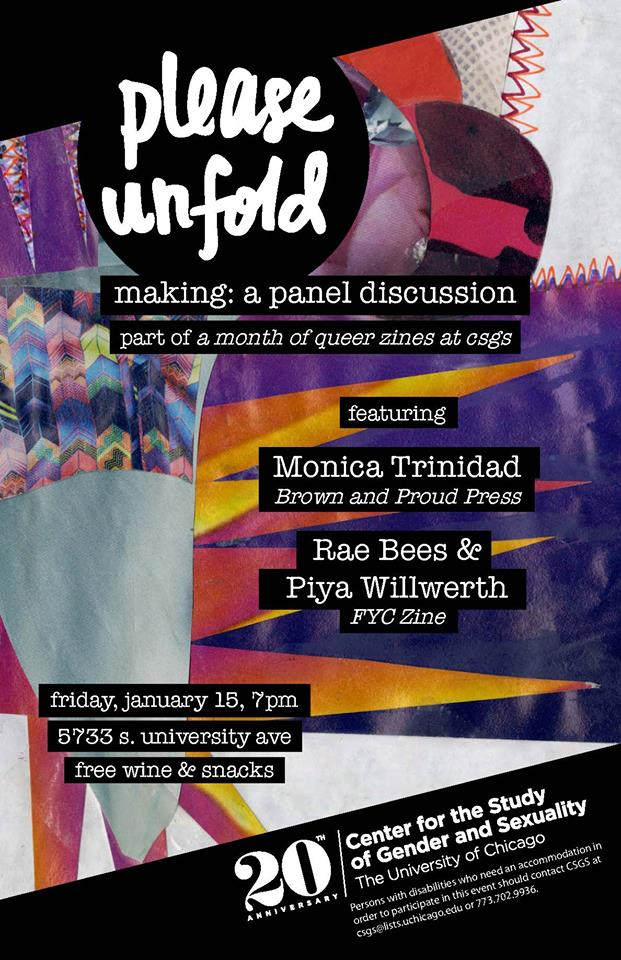 The poster for a Please Unfold panel
